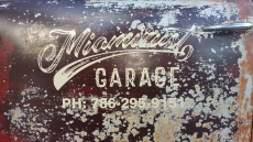 Miamirust Logo Painted On Truck Door